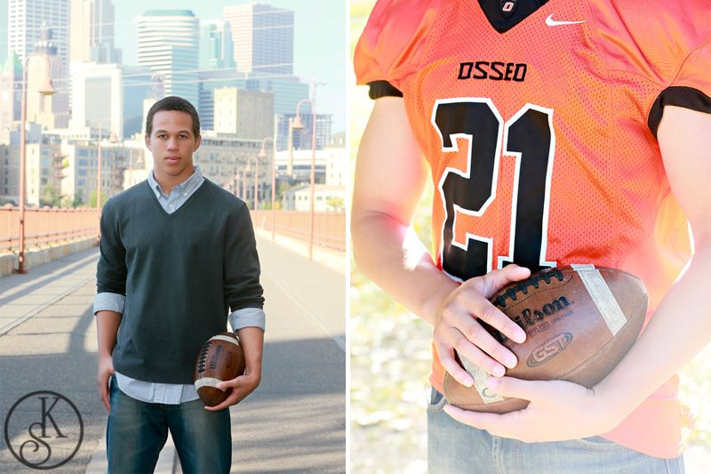 graduate on location with football