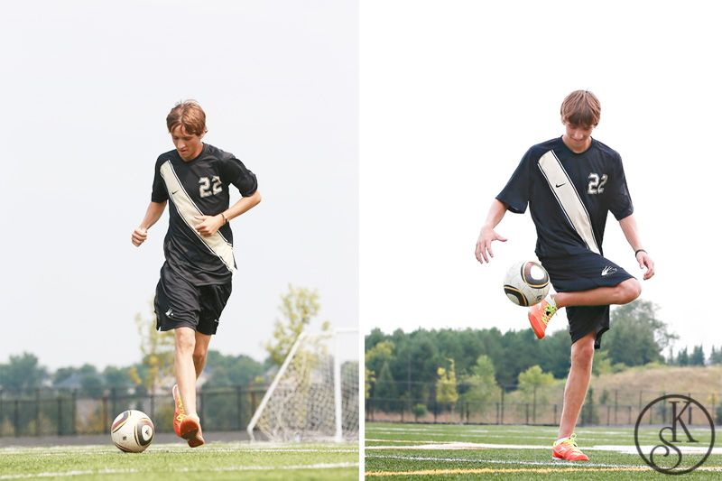 high school graduate pon location playing soccer