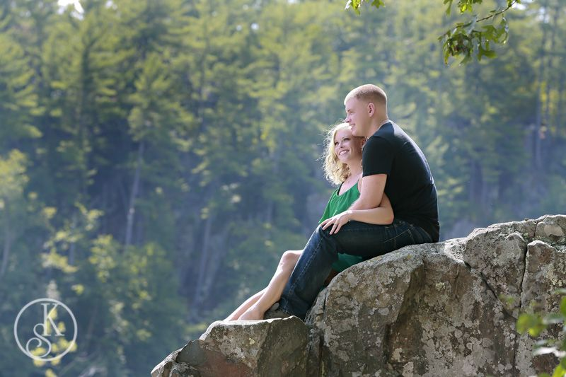 engagement couple on location rocks