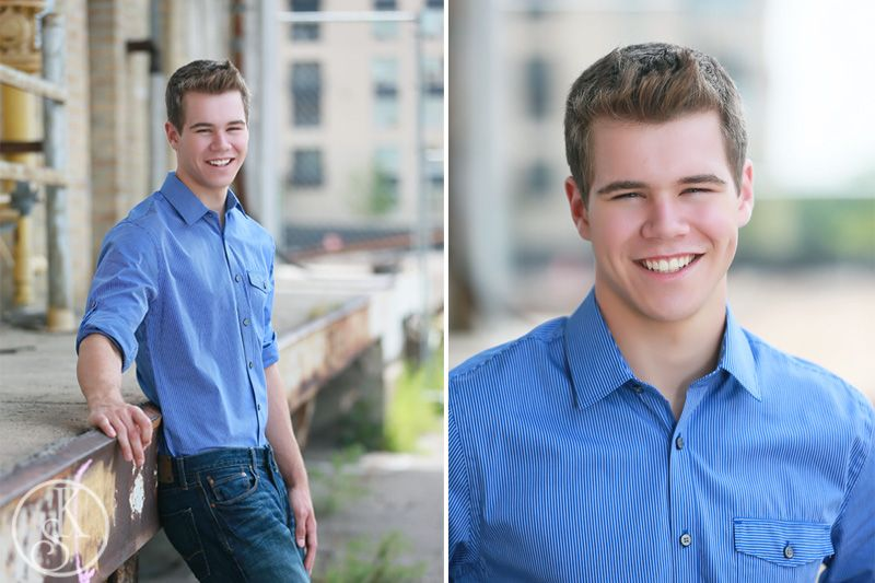 high school graduate on location in downtown Minneapolis