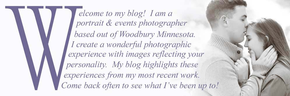 Welcome to my blog! I am a portrait and events photographer based out of Woodbury Minnesota. My blog highlights my most recent work.
