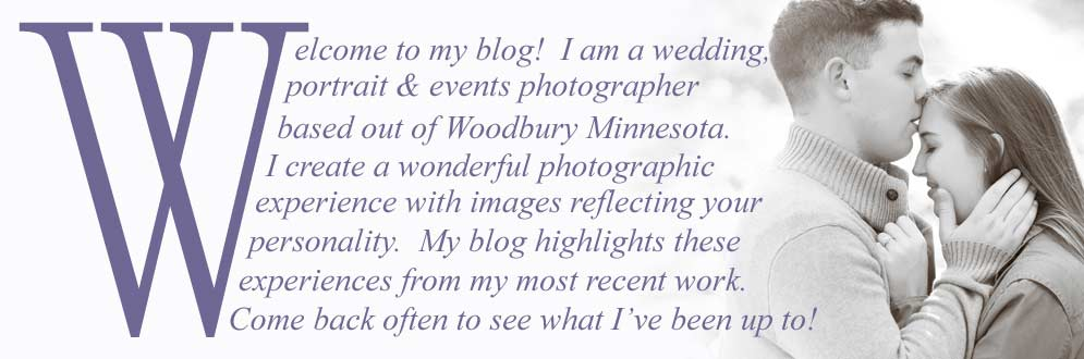 Welcome to my blog! I am a wedding, portrait and events photographer based out of Woodbury Minnesota. My blog highlights my most recent work.